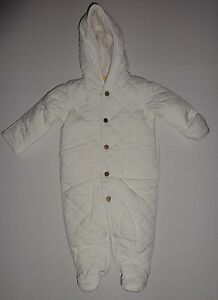 4f9429a49 POLO RALPH LAUREN INFANT BABY GIRL WHITE CREAM BUNTING SNOW SUIT 3M ...