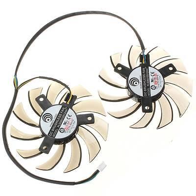 New MSI GTX 460 580 R6870 R6950 Twin Frozr II Dual Cooler Fan PLD08010S12HH 75mm