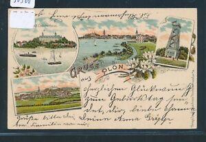 O 1903 BüGeln Nicht Offizielle Website 30368 Ak Litho Gruss Aus Plön Bahnpost Kiel Lübeck Zug 8