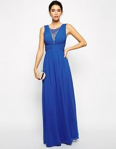 eur36 Brautjungfer Chi Maxi Uk8 us4 Kleid London Party wwYOUg