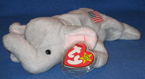 MINT with MINT TAGS ORIGINAL TY RIGHTY the ELEPHANT BEANIE BABY