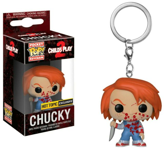Child S Play 2 Chucky Bloody Pocket Pop Keychain Figure Funko For Sale Online Ebay