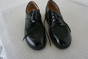 FINN-COMFORT-Cadiz-Schuhe-Schnuerschuhe-Einlagen-Gr-37-5-Schwarz-Lack-Leder-NEU