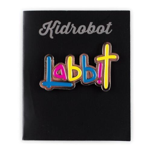 Labbit Logo Shiny Kidrobot Pinning And Winning Series 2 Enamel Pin