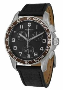 8232637e3d5 Image is loading NEW-VICTORINOX-SWISS-ARMY-249042-CHRONO-CLASSIC-BLACK-
