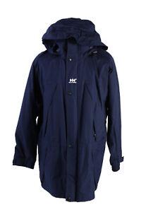 Vintage-Helly-Hansen-Winter-Jacket-Mens-Long-Coat-Size-M-Dark-Blue-C1569
