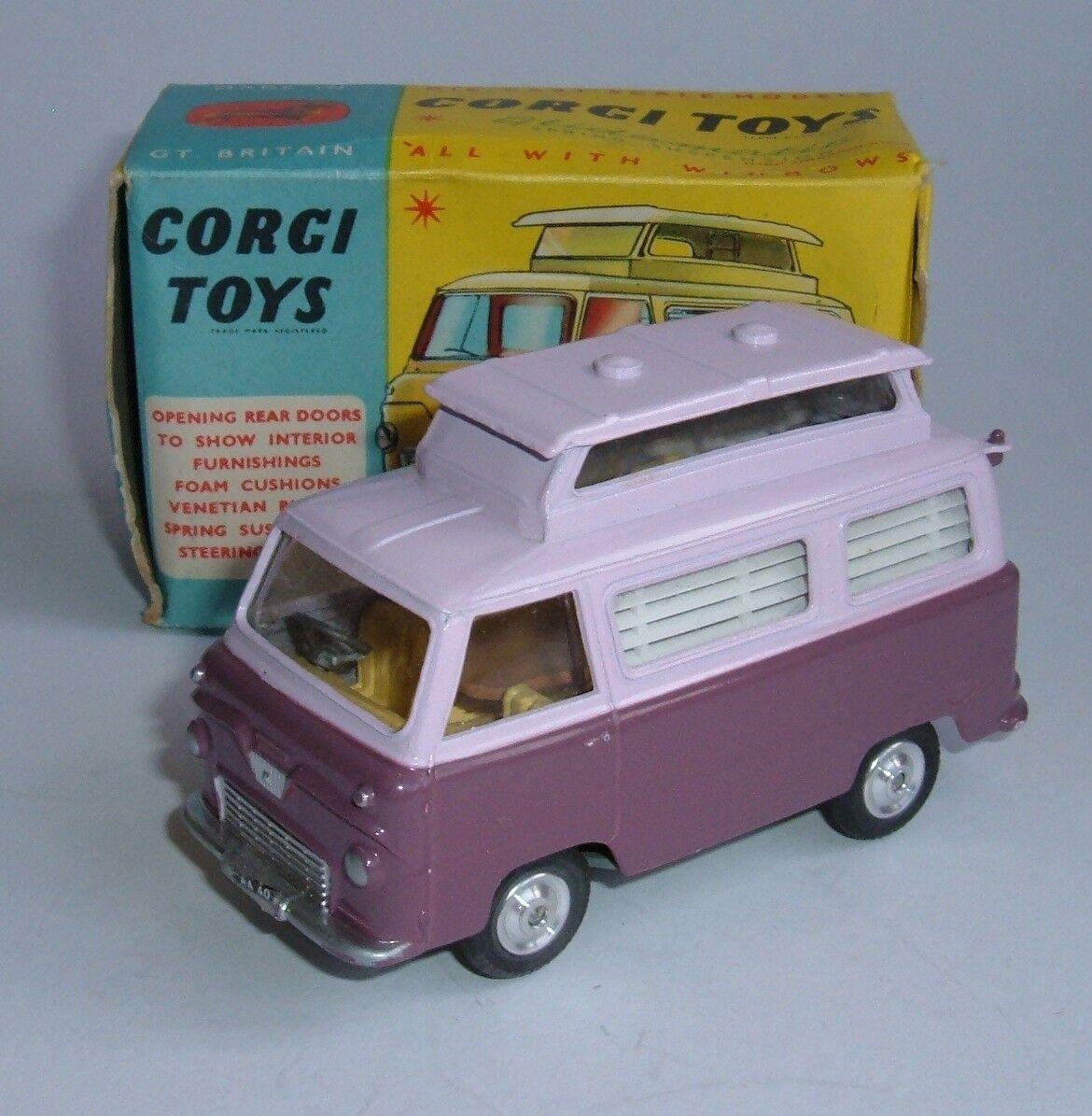 Corgi Toys No. 420, Ford Thames 'Airborne' Caravan, - Superb