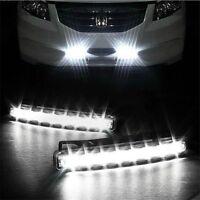 2x 8 LED Daytime Driving Running Light DRL Car Fog Lamp Waterproof DC 12V White