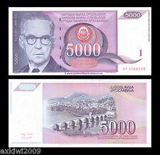 Yugoslavia 5000 (5,000) Dinara 1991 P-111 Mint UNC Banknotes