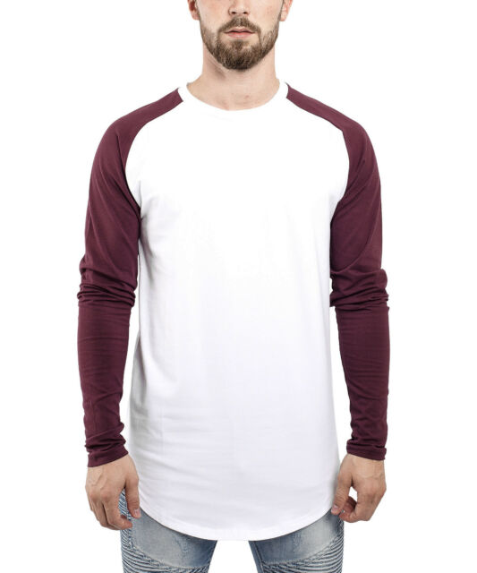 4104c17c4c5db2 Blackskies Oversized Round T-Shirt Herren Curved Top Longshirt Longline  Long Tee T-shirts