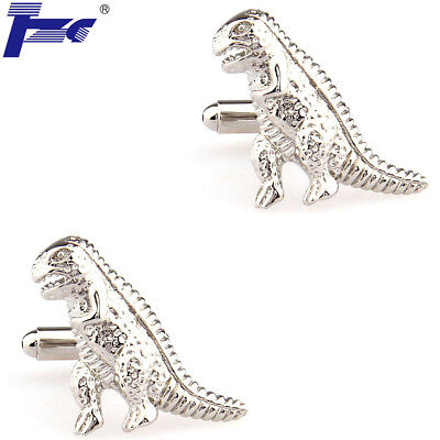 Select Gifts Dinosaur Gold-tone Square Cufflinks with Pouch