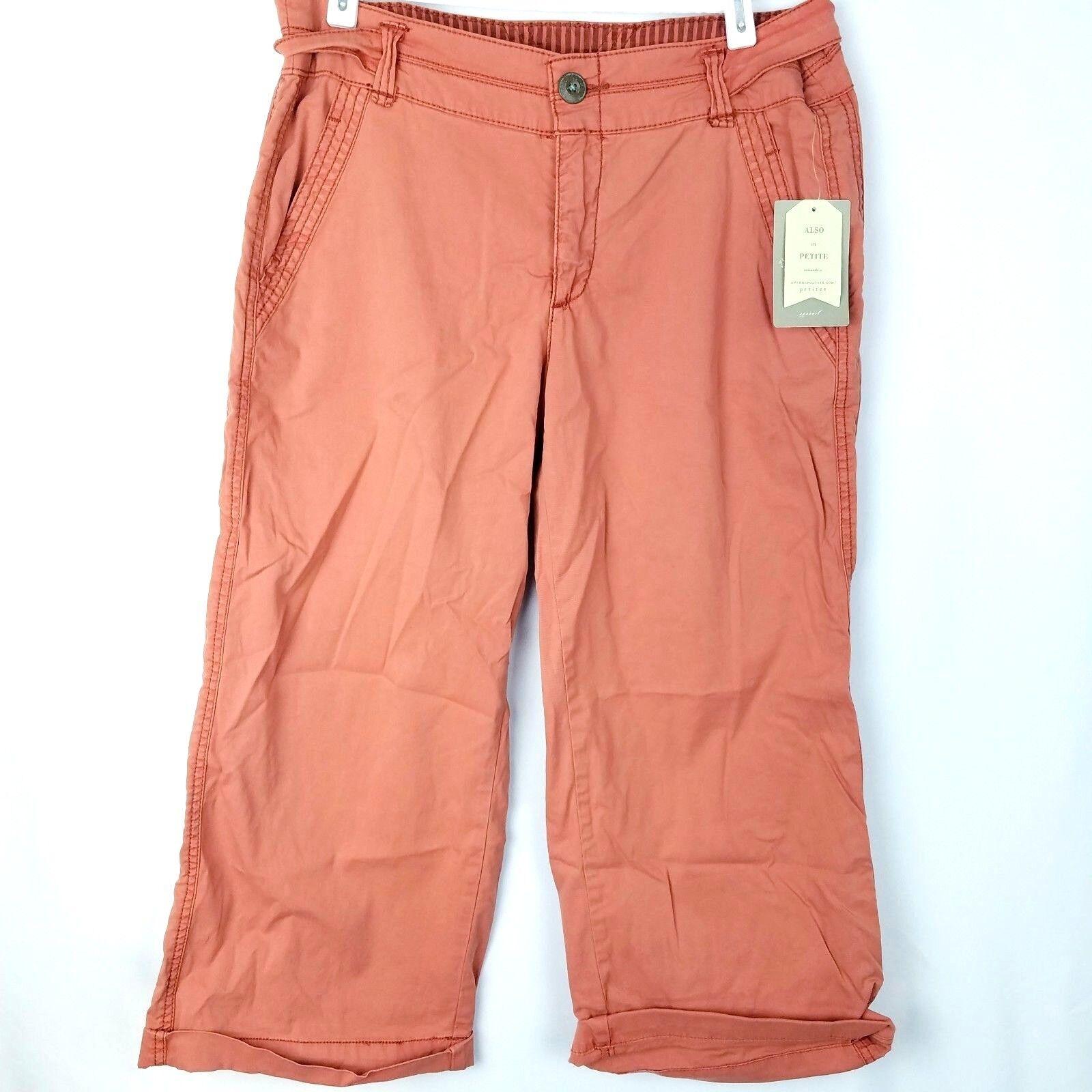 Hei Anthropologie Capri Pants damen Größe 27 Orange Mid-Calf Length Salmon  118