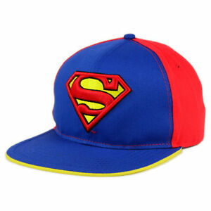 Superman Man of Steel Blue DC Comics Felt Snapback Hat Cap Lid Flat ... a07a112f799