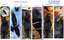 3 Lot-CROW RAVEN BOOKMARK Black Indian Bird ART Book Mark Card Figurine Ornament