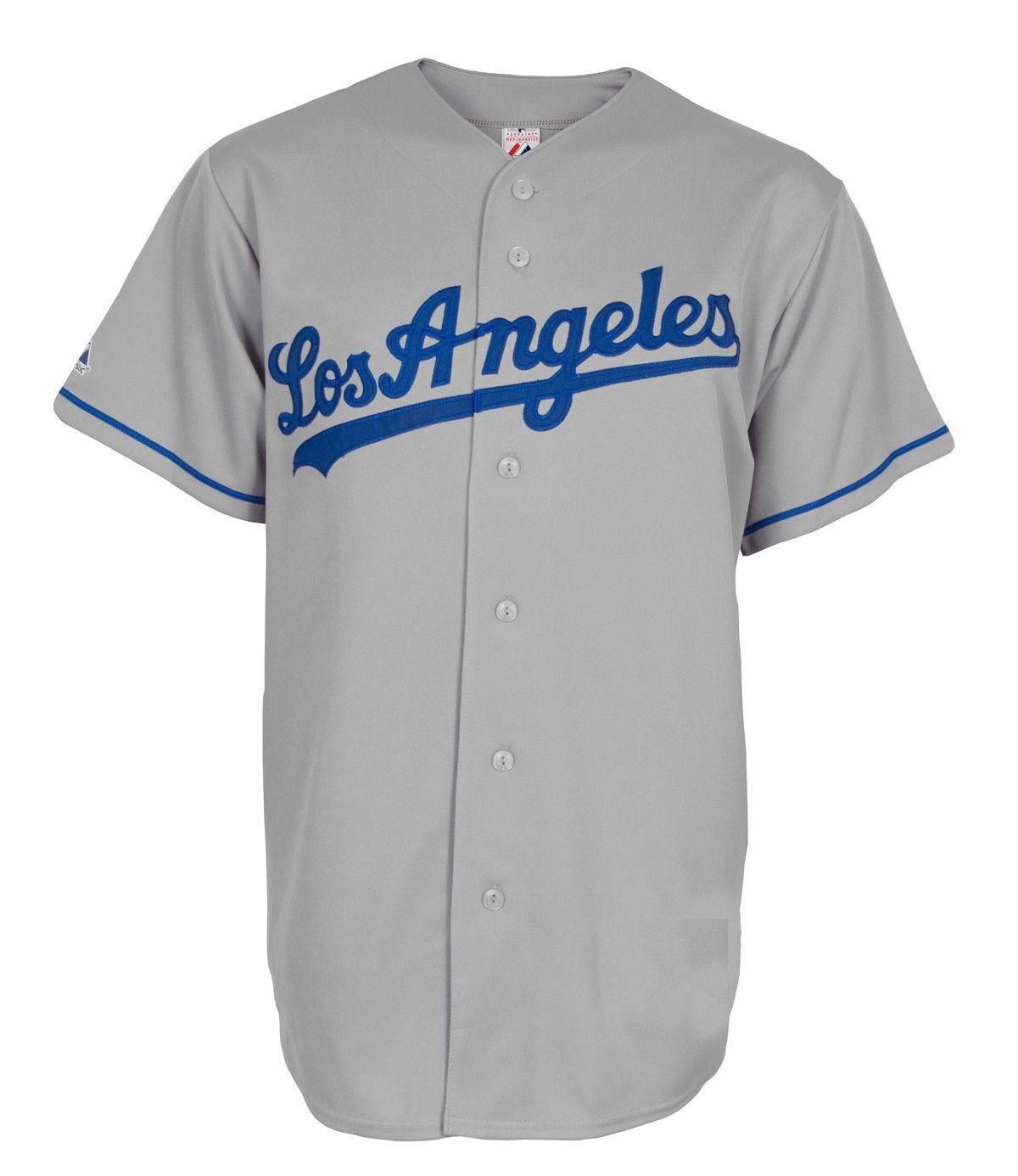 MLB Baseball Trikot Jersey LOS ANGELES L.A. DODGERS Road grey von Majestic M67