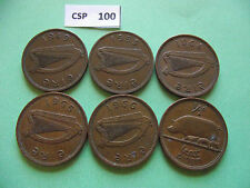 IRELAND/EIRE. 6 COINS@ HALF PENNY. RUN OF THE YEARS (1949-1967)#CSP100-CSP102