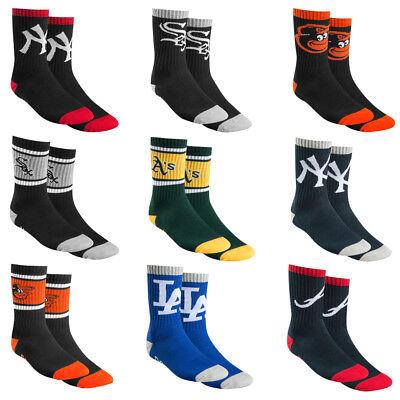 Marchio Popolare '47 Brand Mlb Baseball New York Bolt Uomo Da Sport Calzini Sportivi Taglia Socks-