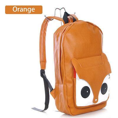 Girl Cute Naughty Little Fox Bag PU Leather Backpack Bag Schoolbag Travel