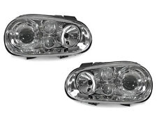 DEPO 99-04 VW Golf GTi Mk.IV 4 Chrome Glass Lens Headlight + Projector Fog Light