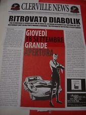 QUOTIDIANO CLERVILLE NEWS DIABOLIK N. 0 + GADGET POSTER TOVAGLIA CARTA  rare!!!!