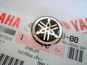 Original Yamaha 12mm Tuning Fork Logo Black Silver Decal Sticker Uk Stock Ebay