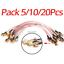 Lots-5-20-Pcs-RG316-SMA-male-plug-to-SMA-male-plug-RF-Pigtail-Coax-Jumper-Cable