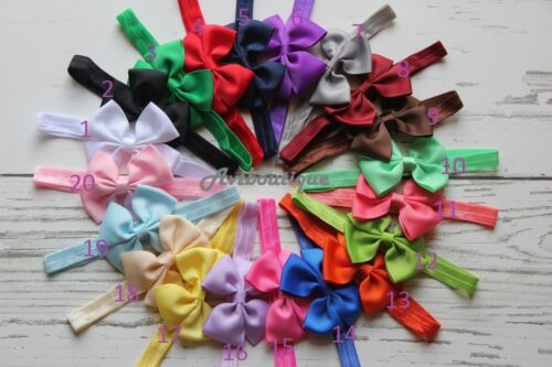 20pcs baby headband newborn girl hairband infant head band hair bow US seller