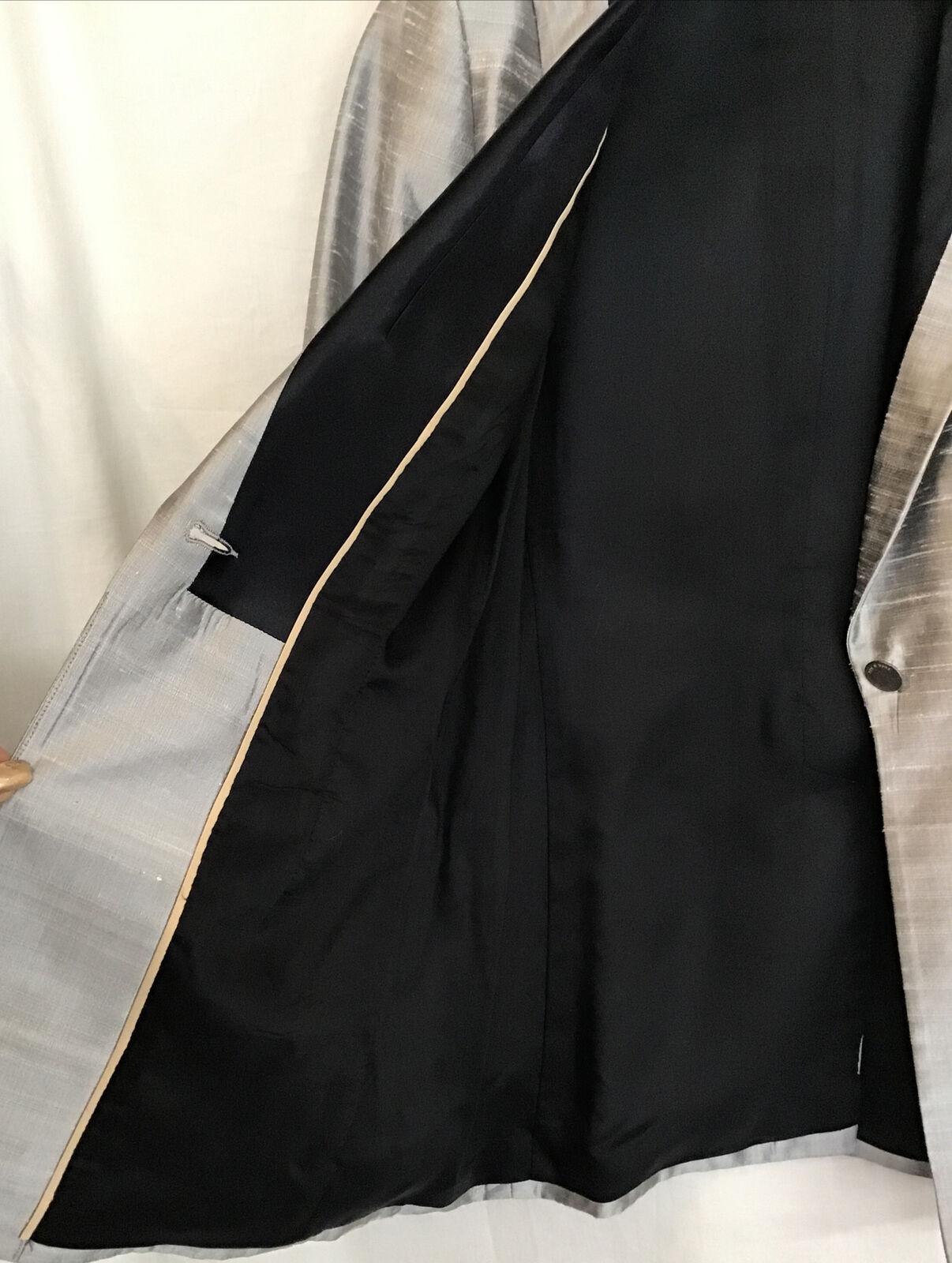 rag and bone  Suit Jacket silver gray silk peak s… - image 12