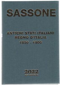 SASSONE ANTICHI STATI ITALIANI I FRANCOBOLL 2022 CATALOGO FRANCOBOLLI ITALIANI