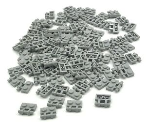 LEGO-LOT-OF-100-NEW-LIGHT-BLUISH-GREY-1-X-2-PLATES-WITH-HANDLES-PIECES