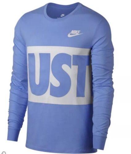 Shirt Mens Carolina Blue 891962-412 Tarheels NEW Nike JUST DO IT Long Sleeve T