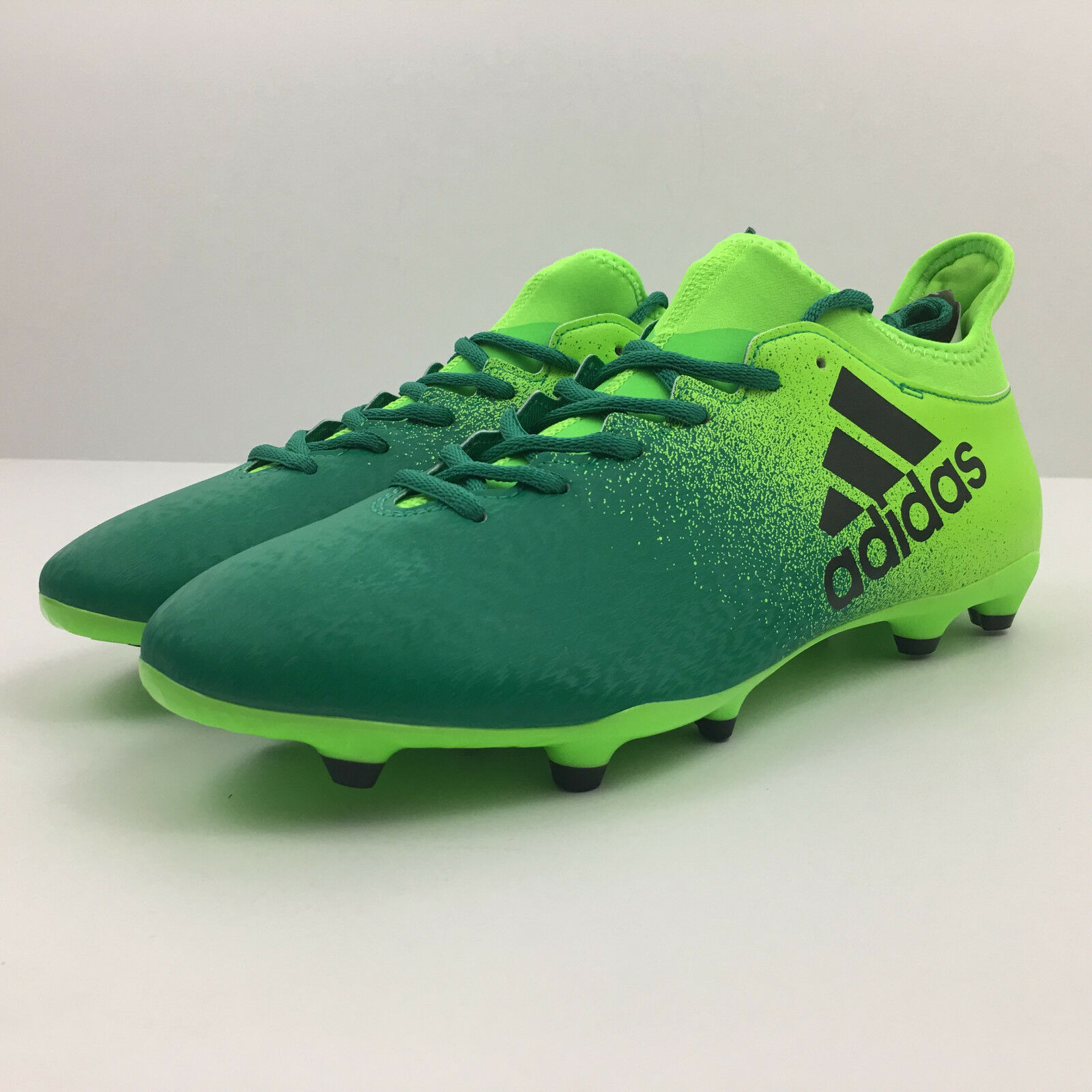 ADIDAS Men's X 16.3 FG Soccer Cleats Green Black Core Green Size 10.5 (BB5855)