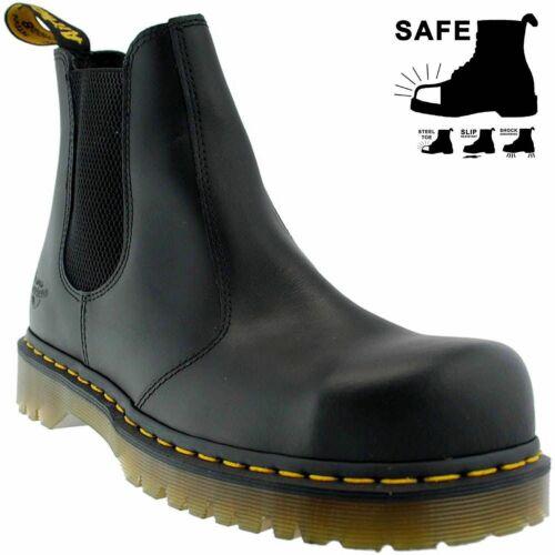 Dr Martens cuero sb seguridad zapatos tapa de acero botas chelsea botas 2028 uk11