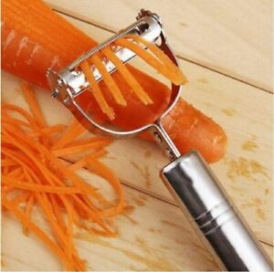 Stainless-Steel-Potato-Peeler-Vegetable-Carrot-Fruit-Slicer-French-Cutter-Grater