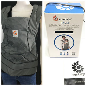 Details About Ergobaby Travel Urban Chic Multi Position Baby Carrier Gray