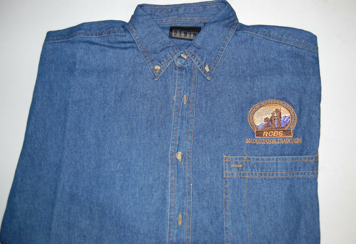 RCBS Denim  Long Sleeve Shirt - Size Large  top brand