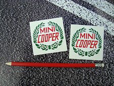 MINI COOPER CLASSIC STICKERS ITALIAN JOB 6cm RALLY HOPKIRK BRITISH LEYLAND
