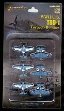 Merit Intl WWII TBD-1 Torpedo Bomber 1/350 Mini Models (Set of 6) *US Seller*