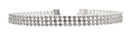 Moda Mujeres Diamante Cristal Estrás Gargantilla Collar de plata de boda oro Reino Unido
