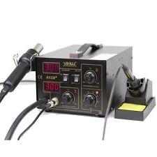 YiHUA-852D+ 110V Electric SMD Rework ESD Soldering Iron Station Hot Air Gun Kit