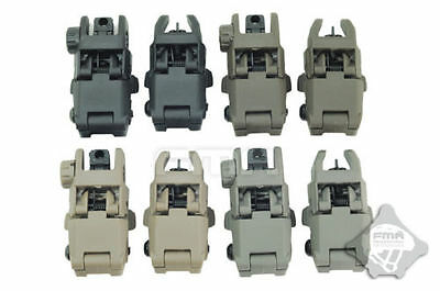 20MM Rail Gen1 Tactical Folding Front & Rear Set Flip Up Backup Sights BUIS