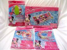 "Minnie Mouse/Diasy Duck 20"" Beach Ball,Swim Arm Floats,Swim Ring, and Swim Raft"