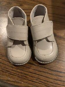 Baby Boy Tan Footmates Shoes, Size 4.5m