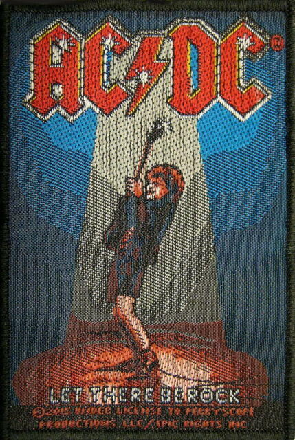 "AC/DC AUFNÄHER / PATCH # 61 ""LET THERE BE ROCK"""