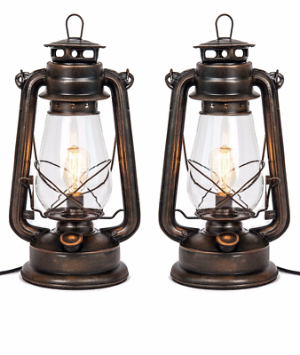 Dimmable Lantern Table Lamp-With Edison Bulb-Muskoka Lifestyle Products USA