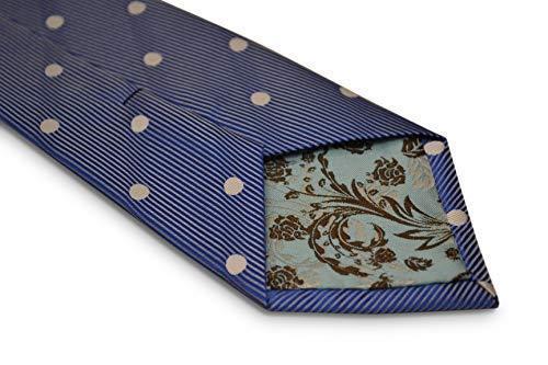 Frederick Thomas Medium Bleu Royal Avec Blanc Polka Dots
