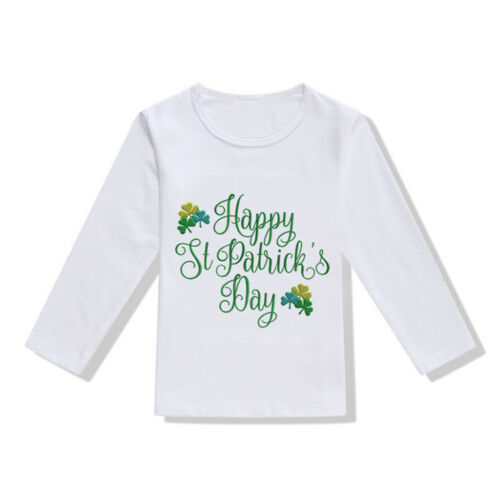 Toddler Baby Girls Boys St.Patrick's Day T Shirt Irish National Day Tops Blouse