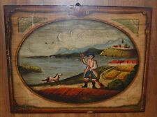 quadro dipinto a mano sul pannello di legno 45x35 moderno olio