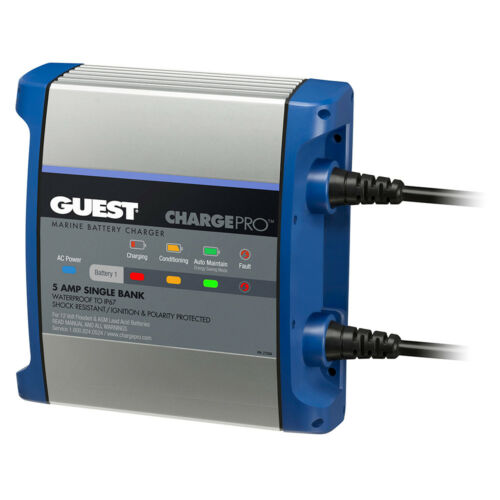 Guest On-Board Battery Charger 5A 120V Input 12V 1 Bank
