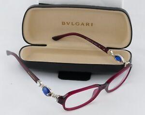 4262c21338 Image is loading Women-s-Bulgari-Ornate-Jewel-Eyeglass-Frame-Crimson-